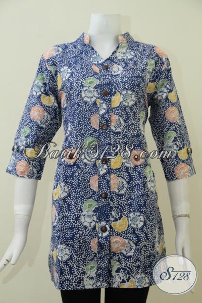 Tempat Belanja Busana Batik Online Paling Lengkap Di Solo, Sedia Blus Batik Motif Modern Untuk Wanita Muda Dan Dewasa Tampil Cantik Dan Percaya Diri [BLS1746C-L]