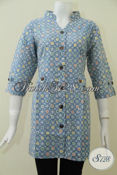 Baju Batik Wanita Proses Cap Harga Terjangkau, Pakaian Batik Trendy Desain Keren Dan Modern, Size L – XXL