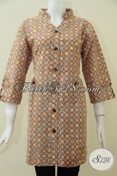 Jual Baju Batik Ukuran Jumbo Untuk Wanita Gemuk, Blus Batik Modern Motif Terkini Yang Sedang Trend Saat Ini, Size XXL