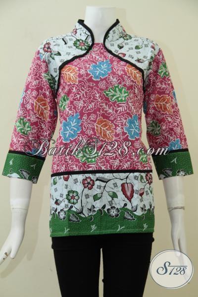 Baju Batik Wanita Harga Murah Kwalitas Bagus Dengan Desain Trendy, Baju Batik Wanita Muda Serta Remaja Putri Untuk Tampil Modis Serta Stylist, Size M