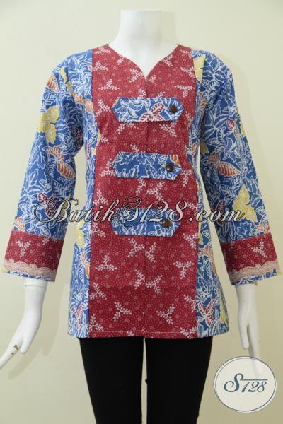 Baju Batik Print Desain Oriental Keren Dan Modern, Busana Batik Dengan Bahan Berkwalitas Halus Namun Memiliki Harga Yang Terjangkau, Size L