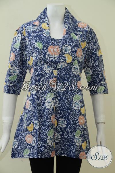 Busana Batik Klasik Modern Proses Cap, Pakaian Batik Blus Wanita Kwalitas Premium Dengan Harga Minimum, Size M – XL
