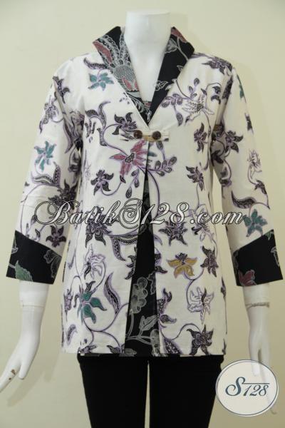 Busana Batik Trendy Untuk Wanita Dewasa Dengan Kwalitas Bahan Yang Halus Berpadu Dengan Model Serta Motif Keren Yang Pas Buat Kerja Maupun Pesta, Size M