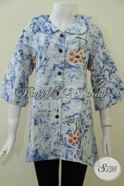 Online Shop Batik Jawa Tengah, Sedia Busana Blus Batik Solo Proses Kombinasi Tulis Yang Hadir Dengan Desain Modern Nan Mewah Berpadu Motif Trend Masa Kini, Size XXL