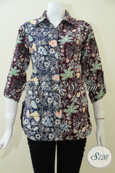 Jual Baju Batik Solo Untuk Perempuan Model Blus, Busana Batik Trendy Desain Terbaru Yang Lebih Mewah Dan Berkelas Dan Cocok Untuk Ke Kantor [BLS1911CT-S]