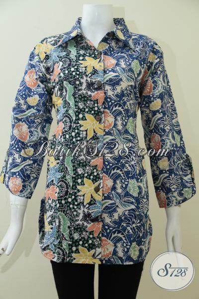Tempat Beli Baju Batik Online Lengkap Dan Murah, Sedia Aneka Blus Batik Model Paling Baru Yang Lebih Modern Dan Paling Diminati Saat Ini [BLS1921CT-XL]