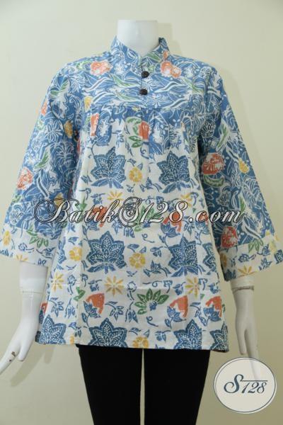 Blus Batik Trend Desain 2014 Untuk Perempuan Muda Dan Dewasa, Busana Batik Yang Modis Dan Fashionable Dalam Segala Acara [BLS1939C-M]