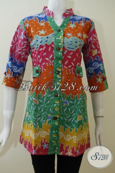 Blus Batik Wanita Terbaru Desain Trendy Nan Mewah Baju