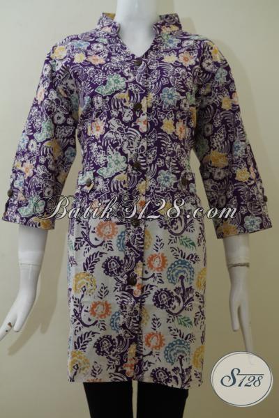 Baju Batik Bagus Harga Terjangkau Asli Produk Solo, Blus Batik Wanita Motif Dan Warna Paling Keren Saat Ini, Size XXL