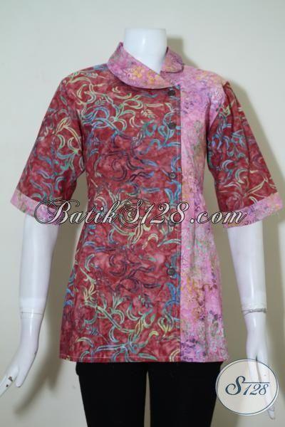 Pakaian Batik Wanita Dengan Bahan Halus Dan Adem, Batik Blus Motif 2015 Lebih Fashionable Perempuan Tampil Cantik, Size S