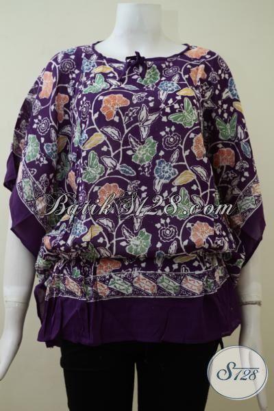Tampat Belanja Online Pakaian Batik Wanita Aman Dan Terpercaya, Sedia Blus Batik Ungu  Model Terbaru Kesukaan Wanita Muda Dan Remaja Putri [BLS2132CR-All Size]