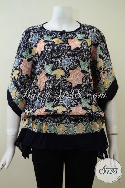 Pusat Penjualan Batik Online, Sedia Blus Batik Solo Model Terkini Untuk Wanita Muda Dan Dewasa, Baju Batik Bahan Paris Yang Halus Dan Adem Nyaman Di Pakai [BLS2134CR-All Size]