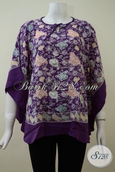 Baju Batik Unguk Untuk Wanita Dewasa, Pakaian Batik Model Mewah Motif Bagus Berbahan Paris Halus Yang Nyaman Dan Trendy Di Pakai Setiap Hari [BLS2137CR-All Size]