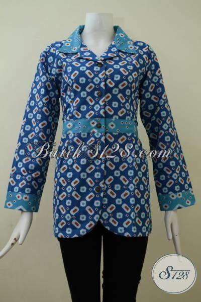 Jual Pakaian Blus Batik Printing Model Terbaru Untuk Perempuan Muda Dan Dewasa, Baju Batik Kwalitas Halus Cewek Tampil Lebih OK, Size M – L