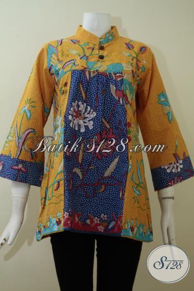 Toko Pakaian Batik Wanita Online, Sedia Trend Busana Blus Terkini Dengan Kombinasi Warna Trendy Yang Cocok Untuk Segala Kegiatan Rutin Perempuan Muda Yang Aktif [BLS2182P-M]