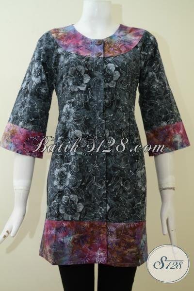 Toko Baju Batik Online Terlengkap Koleksinya, Sedia Blua Batik Cap Smoke Produk Solo Dengan Kwalitas Halus Adem Harga lebih Terjangkau [BLS2202CS-S]