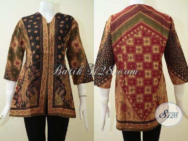 Batik Blus Kwalitas Halus Proses Kombinasi Tulis, Pakaian Batik Model Paling Baru Trend 2015, Blus Batik Kwalitas Istimewa Harga Terjangkau, Size L