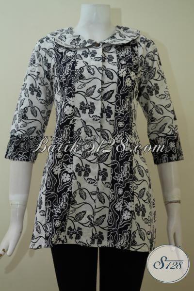 Jual Aneka Batik Baju Kerja Wanita Motif Bagus Harga Terjangkau, Batik Keren Unik Desain 2015 Pas Buat Cewek Yang Pahan Fashion, Size S