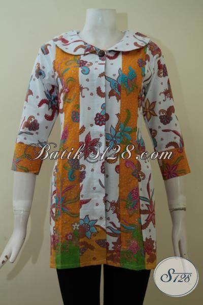Blus Atasan Batik Kwalitas Bagus, Pakaian Batik Wanita Karir, Batik Murah Kwalitas Mewah, Size M