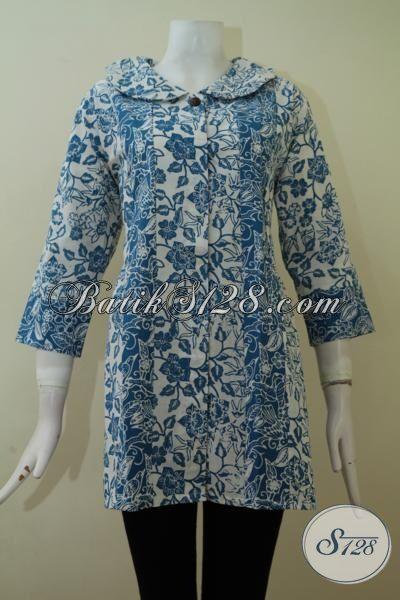 Batik Blus Ukuran Besar Untuk Perempuan Gemuk Atasan Blus Batik
