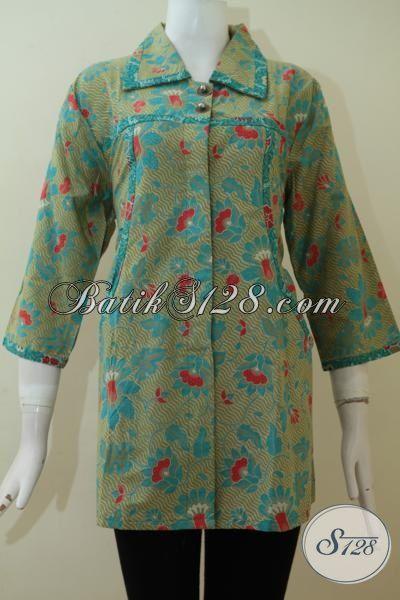 Baju Batik Simple Sederhana Untuk Tampil Elegan Tidak Norak