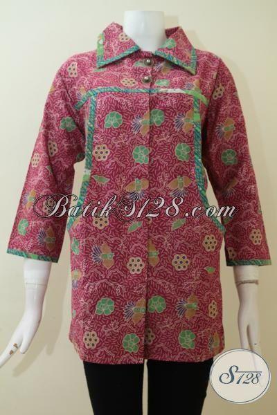 Baju Batik Lengan 3 4 Untuk Wanita Modern Tampil Rapih Elegan Eksklusif   BLS2302P-XXL  3cd002a0a9