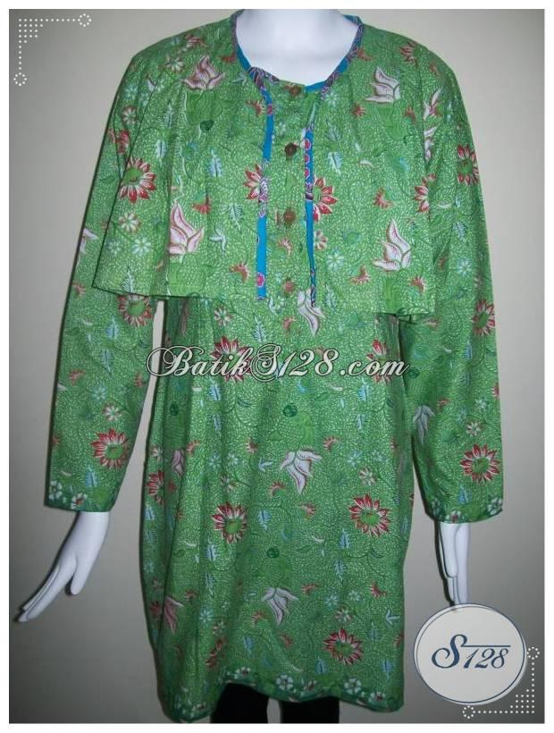 Baju Batik Model Rompi Modern Dan Trendy Bagi Wanita Aktif Bls233p