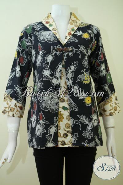 Online Shop Batik Klasik Modern Model Blus Untuk Perempuan Karir, Baju Batik Kerja Wanita Masa Kini Untuk Tampil Lebih Keren [BLS2342BT-S]