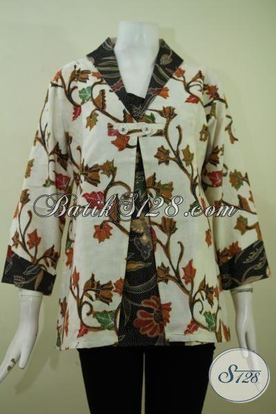 Jual Pakaian batik Cewek Trend Terkini, Busana Blus Batik Desain Paling Banyak Di Cari Untuk Seragam Kantor [BLS2349BT-L]