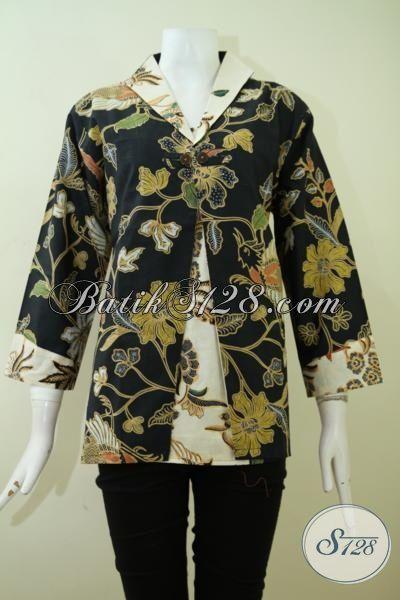 Juragan Baju Solo Online Terlengkap Dan Paling Up To Date, Sedia Busana Blus Batik Model Terbaru Kwalitas Premium Dengan Harga Terjangkau [BLS2357BT-XL]