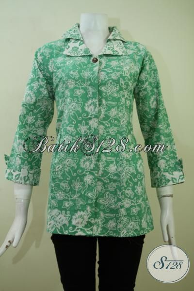Busana Batik Solo Untuk Wanita Muda Dan Dewasa, Pakaian Batik Masa Kini Desain Unik Dan Rapi, BAju Batik Proses Cap Khas JAwa Tengah, Size S