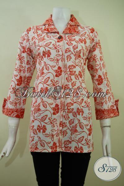 Pakaian Batik Proses Cap Asli Buatan Solo, Pakaian Batik Seragam Kerja Paling Keren Dan Berkelas Saat Ini, Size S