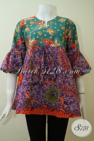 Aneka Pakaian Batik Print Produk Solo Dengan Harga Murah Dan memiliki Kwalitas Kain Halus Adem Serta Nyaman Di Pakai Di Cuaca Yang Panas [BLS2414P-M]