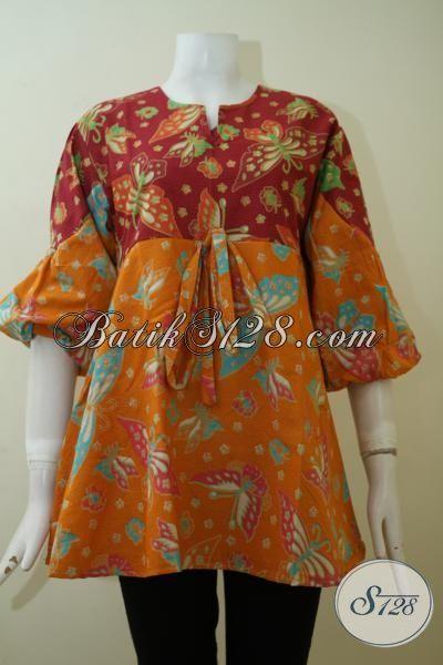 Sedia Aneka Pakaian Batik Wanita Model Terbaru Yang Lebih Mewah Dan Berkelas, Baju Batik Trendy Motif Terbaru Yang Fashionable Untuk Segala Acara [BLS2418P-L]