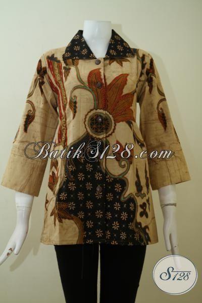 Jual Blus Batik Klasik Proses Tulis Bledak, Pakaian Batik Wanita Kwalitas Premium Sempurnakan Penampilan Setiap Hari [BLS2436TD-M]