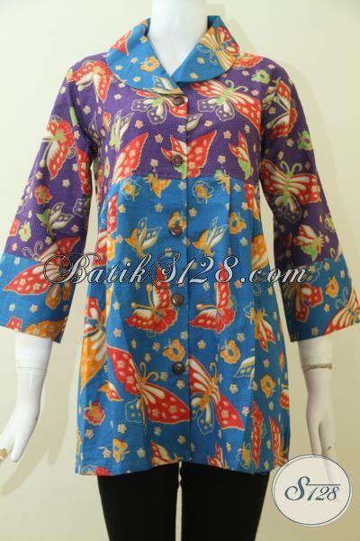 Pakaian Batik Pesta Dan Kondangan Wanita Dewasa Blus