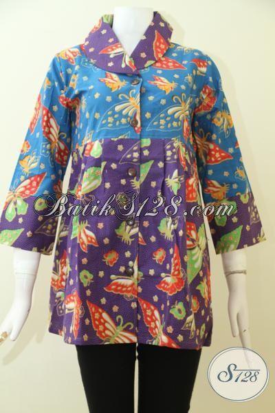 Butik Batik Online Paling Up To Date, Sedia Blus Kerja Perempuan Untuk Tampil Lebih Rapi Dan Modis [BLS2500P-S]