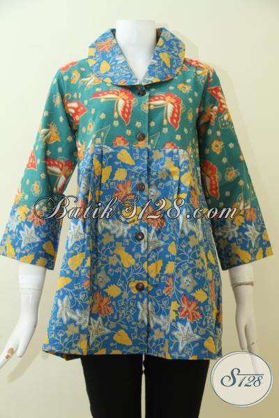 Agen Pakaian Batik Wanita Produk Solo Indonesia, Baju Blus Batik Murah Kwalitas Mewah [BLS2501P-S]