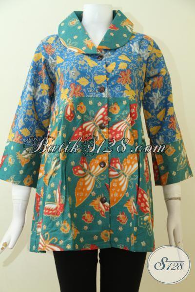 Blus Batik Ukuran Kecil Cocok Untuk Wanita Muda Dan Remaja Putri, Baju Batik Print Bagus Halus Harga 100 Ribuan [BLS2502P-S]