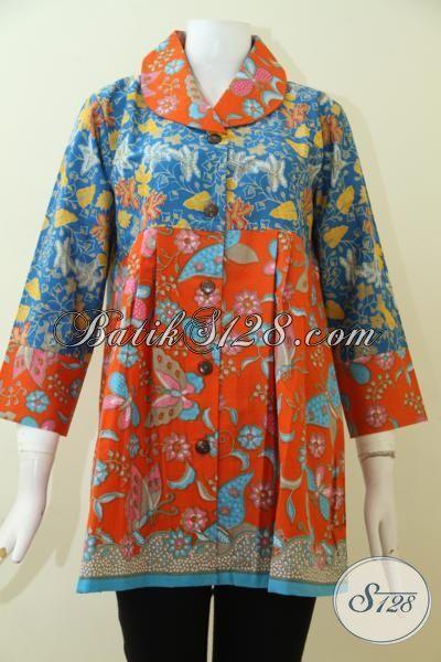 Sedia Aneka Pakaian batik Trendy Untuk Wanita Muda Dan Dewasa, Baju Blus Batik Modern Trend Terkini Harga Terjangkau [BLS2504P-L]