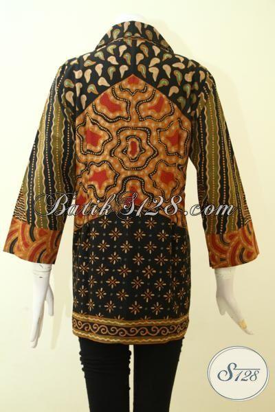 Jual Baju Batik Klasik Solo Motif Matahari Proses Tulis, Pakaian Batik Masa Kini Wanita Dewasa Bisa Tampil Terlihat Mewah [BLS2573T-M]