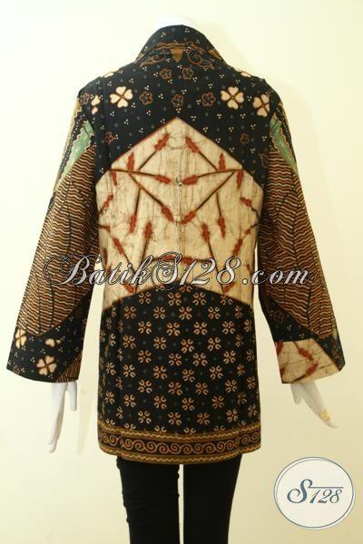 Jual Pakaian Batik Cewek Ukuran Besar Untuk Wanita Gemuk, Blus Batik Jumbo Motif Klasik  Kwalitas Premium Pas Untuk Kerja Maupun Kondangan [BLS2580T-XXL]