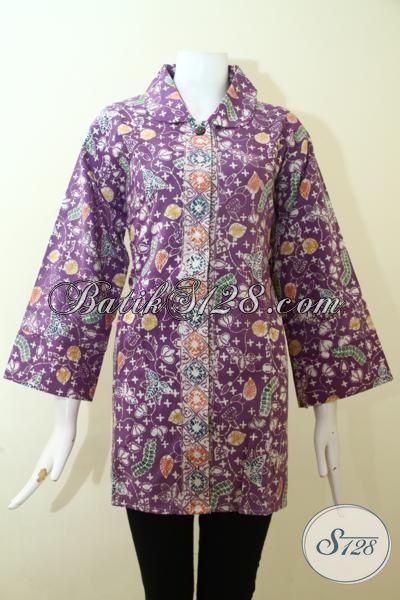 Trend Blus Batik 2015 Hadir Dengan Bahan Dolby Yang Lebih Halus Dan Adem, Baju Batik Klasik Full Furing Proses Cap Tulis Bikin Cewek Lebih Berkelas, Size XXL