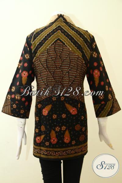 Agen Baju Batik Wanita Online, Sedia Blus Batik Klasik Proses Cap Tulis Dilengkapi Daleman Full Furing, Baju Batik Seragam Kerja Pegawai Bank Dan BUMN [BLS2600TF-XL]