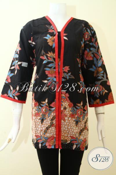 Jual Blus Batik Kerja, Baju Batik Murmer Kwalitas Mewah Dengan Desain Masa Kini Untuk Tampil Feminim Dan Menawan, Size XL