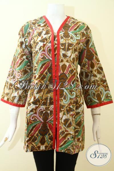 Jual Busana Batik Printing Desain Mewah Terbaru, Baju Blus Batik Pesta Wanita Muda Dan Dewasa Tampil Lebih Modis Dan Rapi [BLS2632P-XXL]