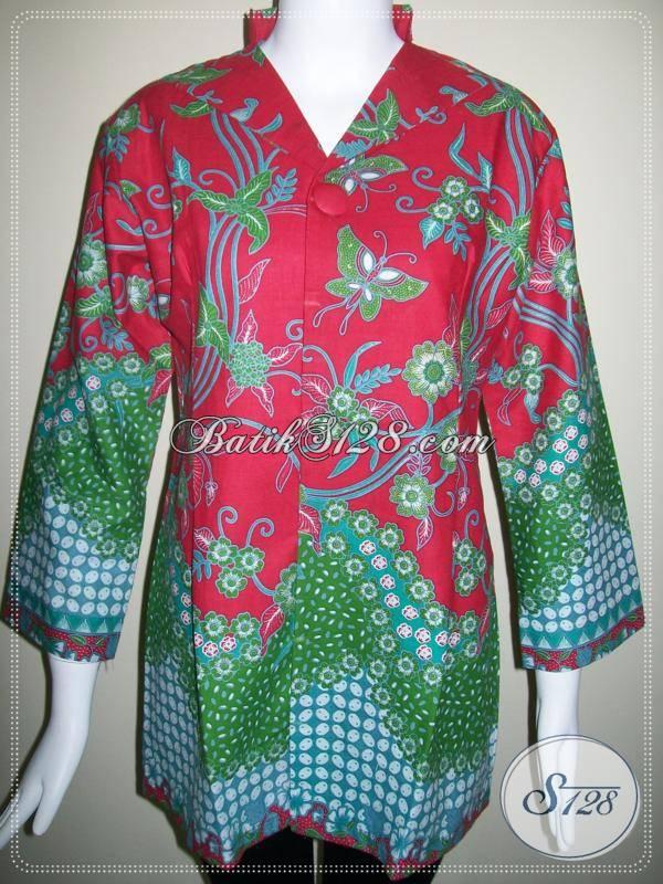 Busana Batik Cantik Untuk Wanita Kantor [BLS268]