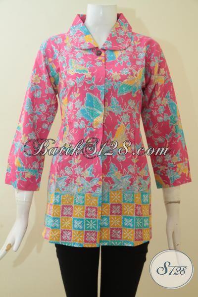 Baju Batik Motif Trend Terbaru Yang Keren Dan Modis Berpadu Warna