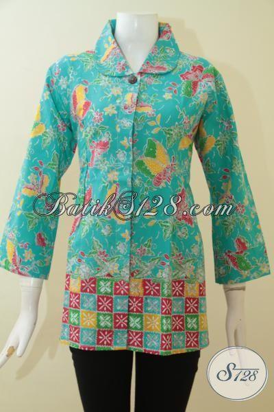 Batik Blus Desain Mewah Trend 2015 Baju Batik Lengan