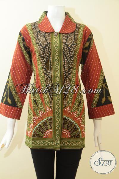 Baju Blus Batik Eceran Harga Grosir Busana Batik Wanita Seragam